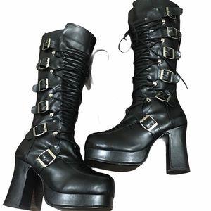 Demonia gothika 200 black boots size 8